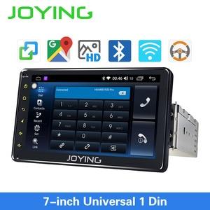 Image 1 - Joying Android 8,1 Авторадио автомобиля 1 один DIN 7 головное устройство HD мультимедиа для стерео Радио автомобильной Bluetooth FM wifi Зеркало Ссылка