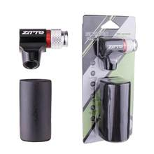 Mini Fiets Pomp CO2 Air Nozzle Aluminium Klep Adapter Op For A Weg Mountainbike Pomp Av Fv Quick Opblaasbare Fles Ventiel