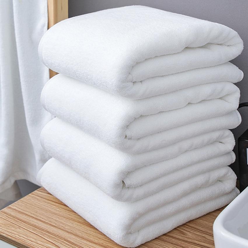 Большое белое банное полотенце 80*180/100*200 см, толстое Хлопковое полотенце для душа, домашнее полотенце для ванной комнаты, отеля, для взрослых,...