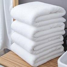 80*180/100*200cm branco grande toalha de banho de algodão grosso toalhas de chuveiro casa banho hotel adultos toalhada de bain
