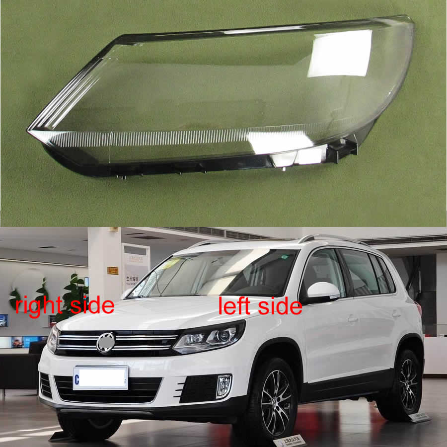 For Volkswagen VW Tiguan 2013 2014 2015 2016 2017 Headlamp Cover Transparent Lampshade Headlight Shell Mask Headlight Cover