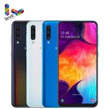 Versão global samsung galaxy a50 a505f a505fn 2sim telefone móvel 6.4