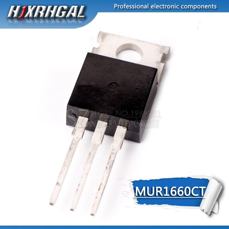 1 Uds MUR1660CT-220 U1660G TO220 Doble diodo de recuperación rápida