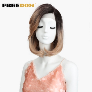 FREEDOM Short Bob Wigs For Bla