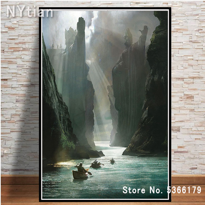 Picture Canvas Room-Decor Print Painting Vintage Poster Lord-Of-The-Rings Wall-Art Movie title=
