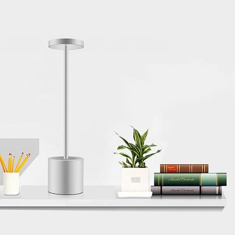 de luz dimmer lampada mesa ajustavel