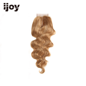 "Image 2 - Human Hair With 4x4 Lace Closure #1B/4/27/30/33/99J/Burgundy 8"" 20"" M Non Remy Body Wave Closure Brazilian Hair Extension IJOY"