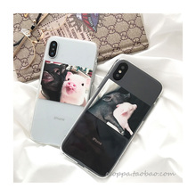 Babaite Funny Cartoon Pig Print Pattern Phone Case For iphone X XR XS Max 6 S 5 5s 7 8 plus Soft Cover Couple