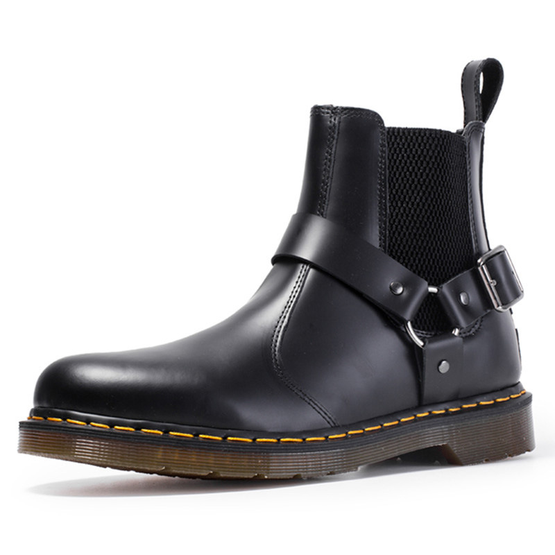 Shoes Winter Genuine-Leather Boot Outdoor Casual Women Warm Man Ankle Couple Big-Size
