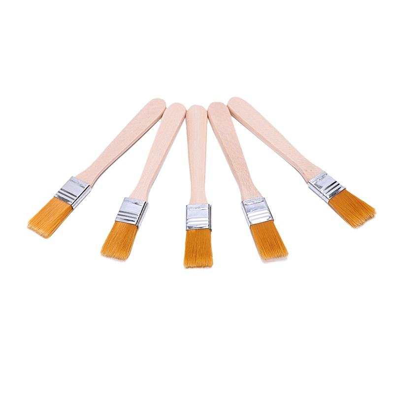 5x Painter Artists Oil Painting Drawing Brush Tool 1.4cm Wide Yellow
