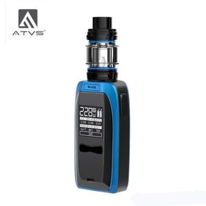 Image 3 - Atvs 228w lâmina cigarro eletrônico kit 18650 caixa mod com 5ml 510 thread tank 228w saída máxima enorme potência por 18650 bateria