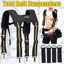 H-tirantes acolchados para trabajo, herramienta de trabajo de alta resistencia, con 4 ganchos de soporte para reducir el peso de la cintura