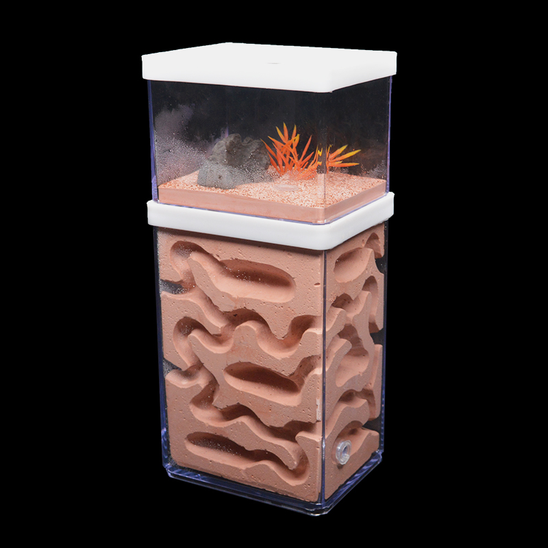 New Large Plaster Ant Farm Natural Ecological Big Ant Nest Insect Castle Workshop Pet Anthill Ant House With Feeding Area