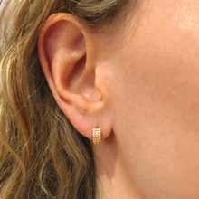 Minimalis gold hoop Earrings for women,925 silver huggie hoops Thick Paved zircon ear buckle piercing party wedding fine jewelry