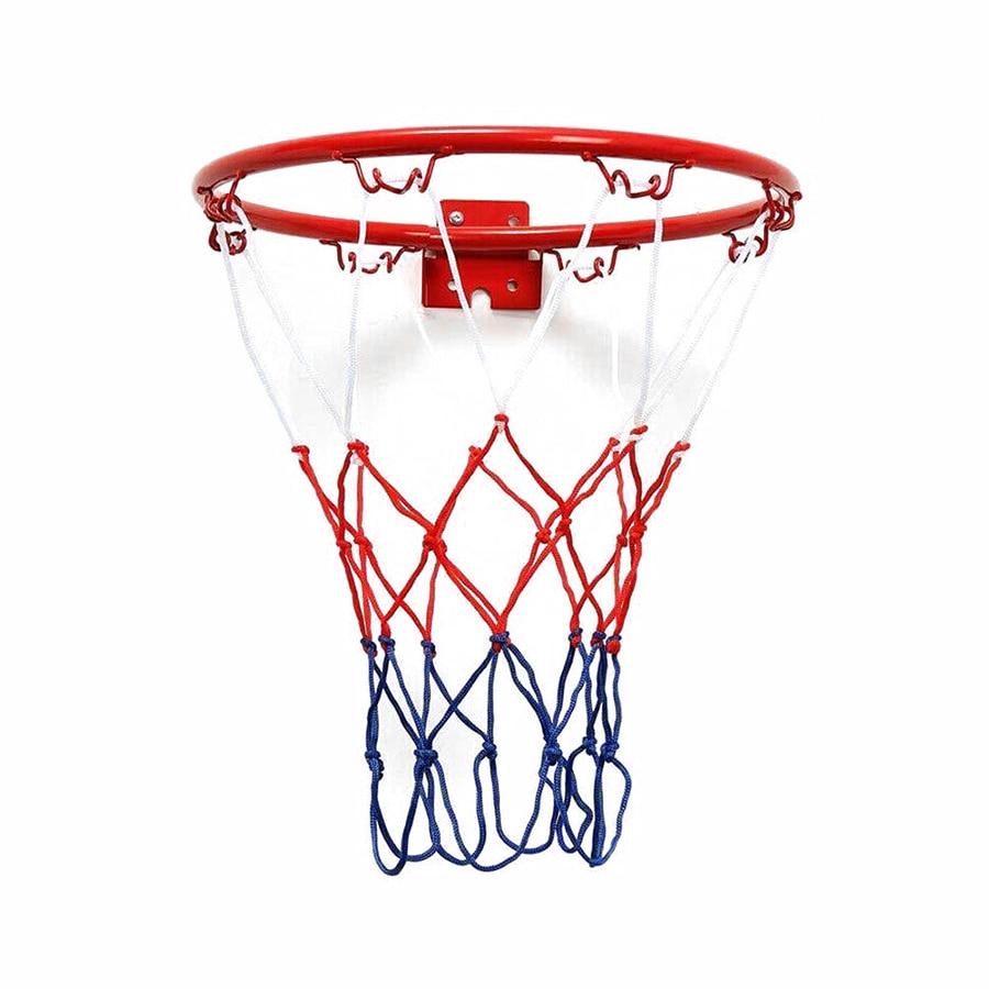 32cm Wall Mounted Basketball Ring Rim Hoop Outdoor Hanging Basket X6C2