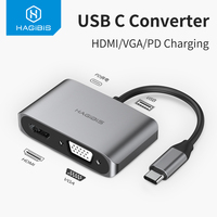 Hagibis USB C HDMI VGA Adapter Type C to HDMI 4K Thunderbolt 3 for Samsung Galaxy S10\/S9\/S8 Huawei Mate 20\/P30 Pro USB C To HDMI