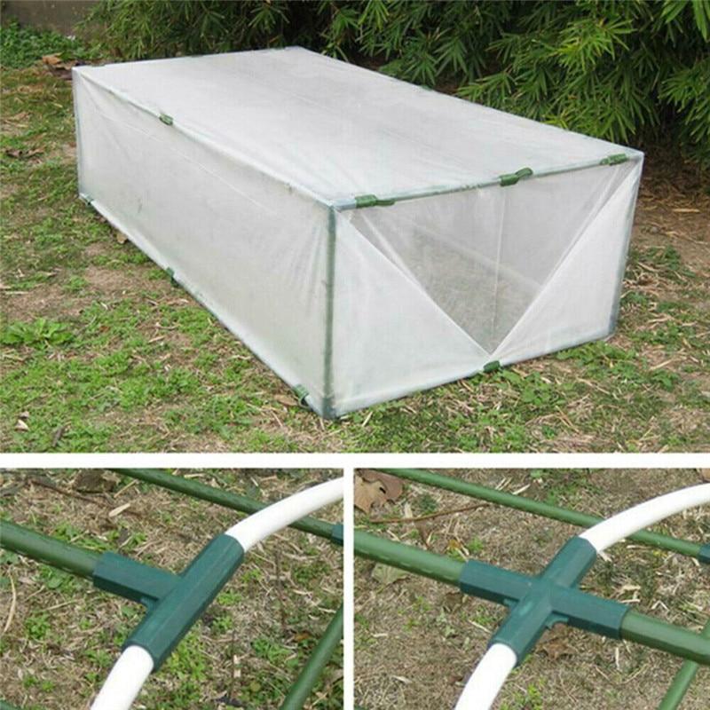 Купить с кэшбэком 5 Types Plant Awning Connector Pillar Fittings Plastic Vine Frame Greenhouse Bracket Assembly Connecting Parts Garden Tools
