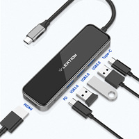 Adaptador de puerto USB a USB 3,0 HDMI para MacBook Pro 13,3, accesorios de USB-C tipo C 3,0, divisor, 6 puertos USB con carga PD