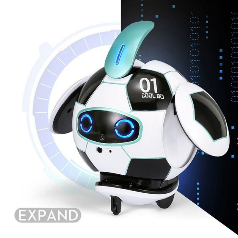 Intelligent Soccer Robot Talk Singing Dancing Repeat Touch Sensing Deformation H37A