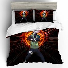 купить Home Textiles Bed Linen Set NARUTO Qualified Quality Couple 3d Gift King Size Bedding Set Duvets And Linen Sets Bed Linen Cotton дешево