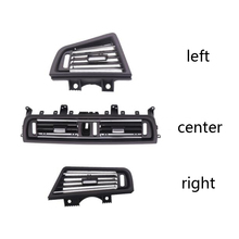 LHD Front Row Wind Left Center Right Air Conditioning Vent Grill Outlet Panel With Chrome Plate For BMW 5 Series F10 F18