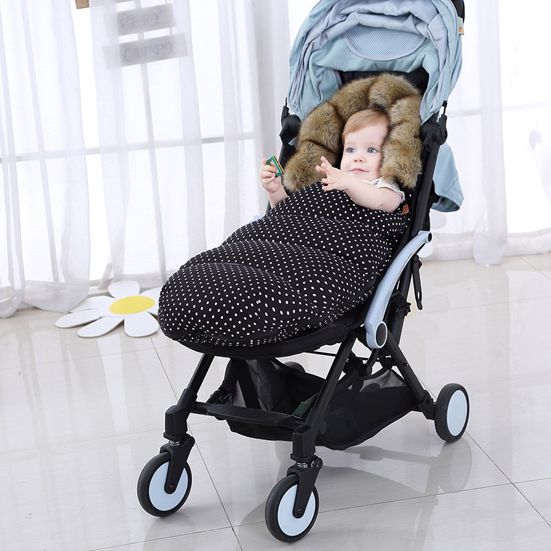 Baby Stroller Sleeping Bag Winter Warm Sleepsack Windproof For Infant Wheelchair Envelopes For Baby Footmuff Newborn Sleepsacks