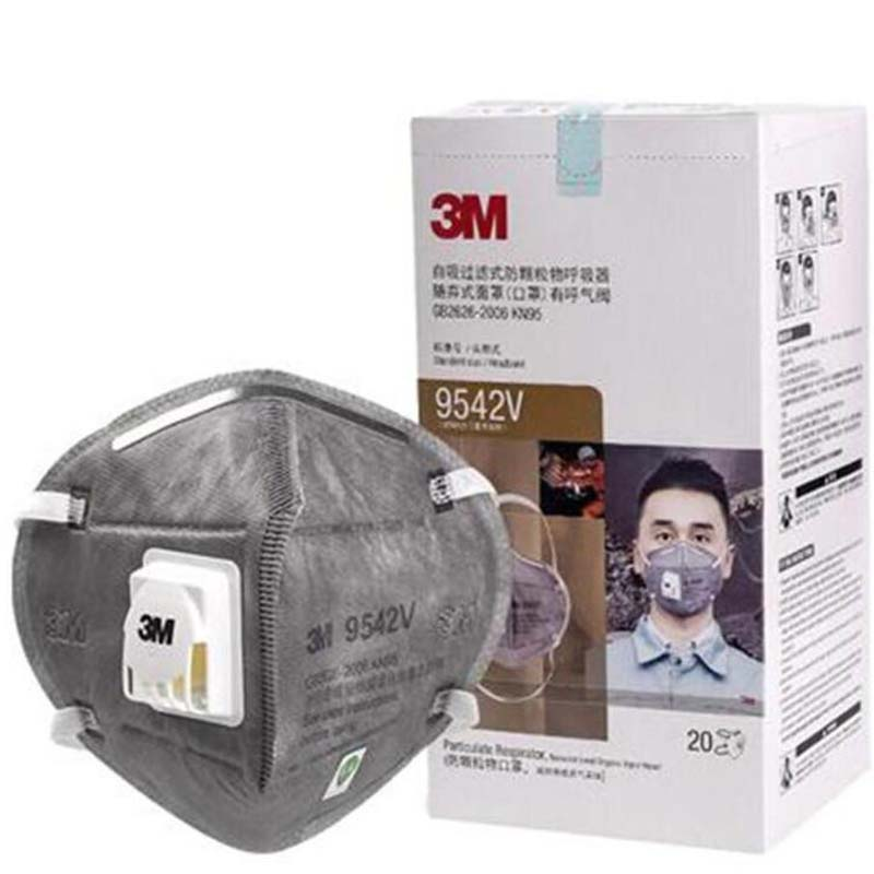 IN Stock! 3M N95 Mask With Valve 9001 9042V N90 FFP2 Mask Anti Dust Protective Dustproof PM2.5 Protective KN95 Mask DHL Free Shi