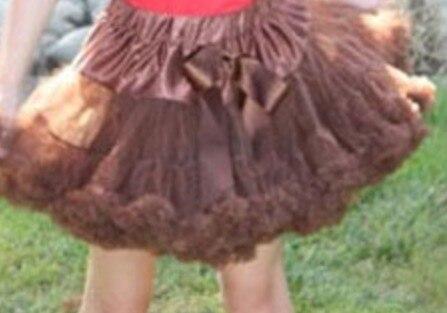 Юбка-пачка для малышей шифоновая юбка-пачка для девочек, детские юбки-американки, юбка для танцев Одежда для мамы и дочки - Цвет: Коричневый
