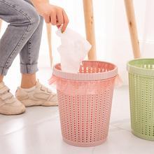 Dustbin For Room Trash Bin Bathroom Kitchen Waste Storage Home Office Can Garbage Plastic Hollow Bucket 15