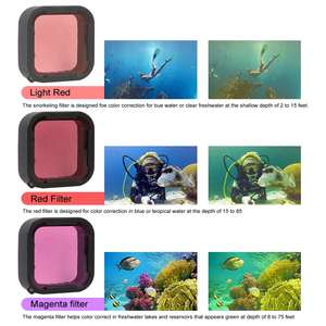Image 5 - 60M Underwater Diving Waterproof Housing Case + Dive Color Lens Filter Kit for GoPro Hero 5 6 7 Black Camera go pro Accessories