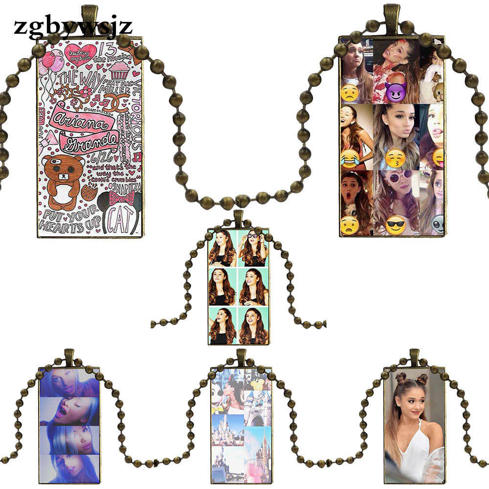 Untuk Wanita Anak Fashion Kalung Buatan Tangan Bentuk Persegi Panjang Kalung Kalung Perhiasan Multi Desain Ariana Grande Kolase