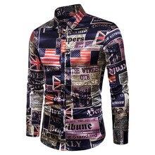 Fashion Shirts Men Printed Hombre New MOOWNUC Winter Autumn Male Long Sleeve Slim Coverall Casual Nightclub
