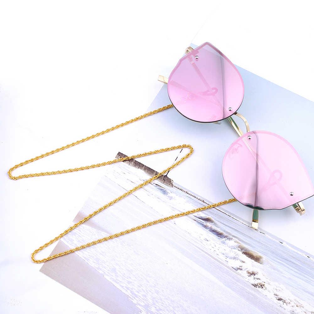 70cm personalizado Cadena de gafas de sol de aleación cordón correa de cadena de gafas para marcos de gafas en forma de serpiente cuerda sin vidrio