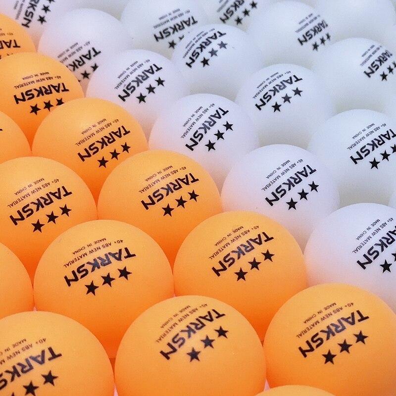 TARKSN 30 50 100 Pcs Table Tennis Balls 3 Star 40+ ABS Plastic Ping Pong Balls Tabletennis Pingpong Ball Wholesale