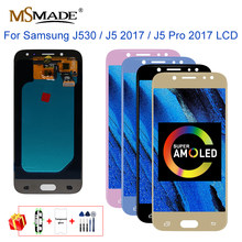 Super AMOLED J530 สำหรับ Samsung J5 2017 จอแสดงผล Touch Screen Digitizer J5 Pro J530M J530F SM-J530F LCD Touch Screen Digitizer ส่วน(China)