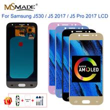 Super AMOLED J530 dla Samsung J5 2017 wyświetlacz ekran dotykowy Digitizer J5 Pro J530M J530F SM-J530F LCD ekran dotykowy Digitizer część tanie tanio MSMADE Pojemnościowy ekran 1280x720 3 For Samsung Galaxy J5 2017 J530 J5 Pro 2017 J530F LCD i ekran dotykowy Digitizer