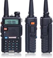 """מכשיר הקשר Baofeng מכשיר הקשר UV-5R Ham Dual-Band שני הדרך VHF / UHF CB רדיו 5 וואט 1800mAh Li-ion סוללה Waterproof, מקמ""""ש (2)"""