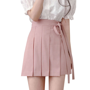 Solid Preppy Style Female Mini Skirts Summer High Waist Women Pleated Skirts Fashion A-Line Lady Girls Short Skirt Streetwear shein girls black solid button up belted casual girls skirts kids clothing 2019 spring fashion a line preppy long flared skirts