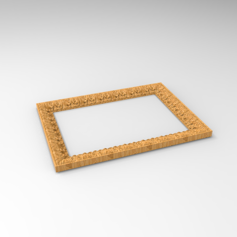 Common Photo Square Frame 3D Model STL Format CNC Router Carving ArtCAM Aspire Types Engraving Carving File A1180