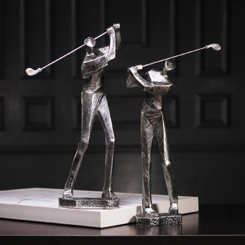 Nordic Golf Sports Men Characters Sculpture Resin Crafts Home Decoration Accessories Modern Living Room Office Birthday Gifts