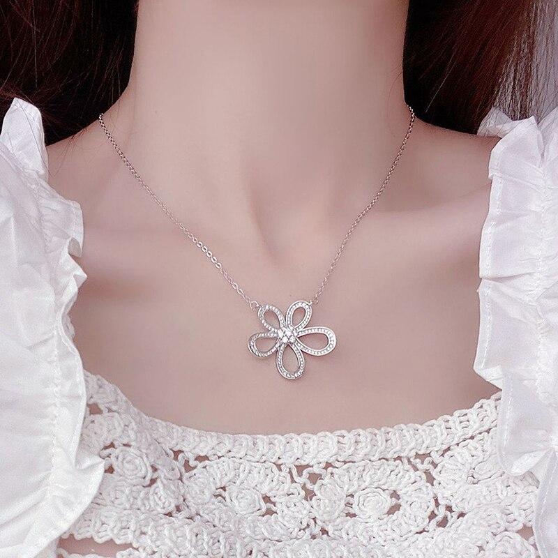 Ins offre spéciale de luxe 14k véritable or soleil fleur femmes collier délicat Bling Micro incrusté Zircon Colar bijoux cadeau d'anniversaire