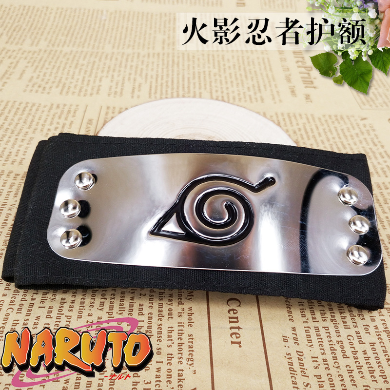 Anime Naruto Headband Black Leaf Village Kakashi Akatsuki Itachi Cosplay Costume Cartoon Props Accessories