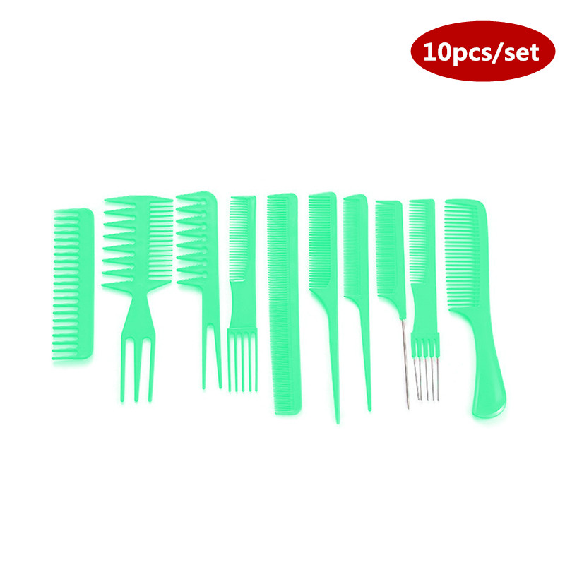 Купить с кэшбэком New 10pcs / Lot Men Women Beauty Salon Hair Styling Hairdressing Black Plastic Brush Combs Anti-static Hairbrush Modelling Tools