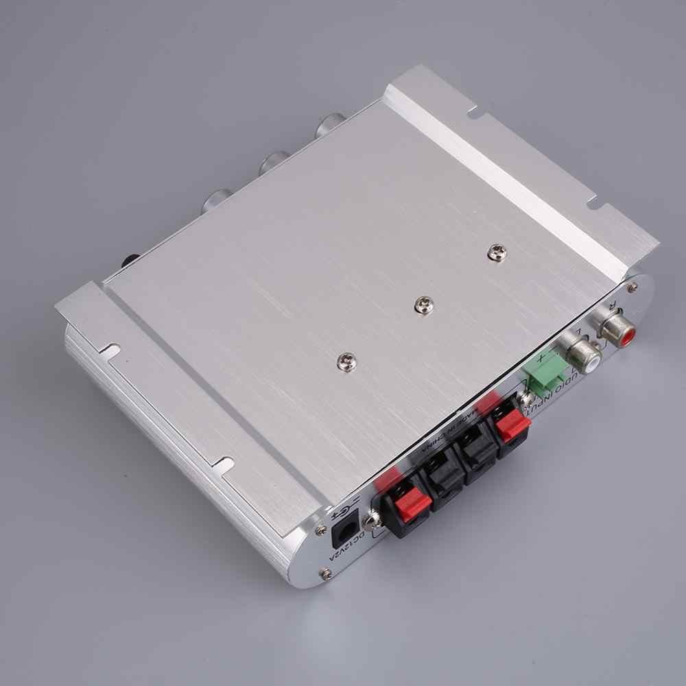 Cewaal para lvpin 12 v 200 w mini hi-fi amplificador estéreo mp3 canais de rádio do carro 2 casa super bass