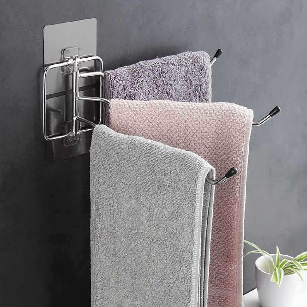 Bathroom Shelf Rotating Towel Railing