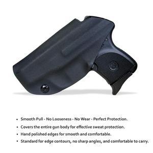 Image 4 - BBF Make IWB KYDEX נרתיק אישית מתאים: רוגר LCP 380 אקדח מקרה בתוך הסתיר לשאת חגורת אקדח פאוץ עם חגורת קליפ