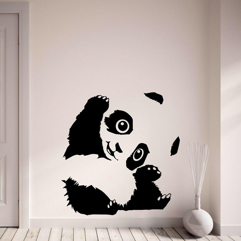 Cute Panda Wall Sticker Nursery School