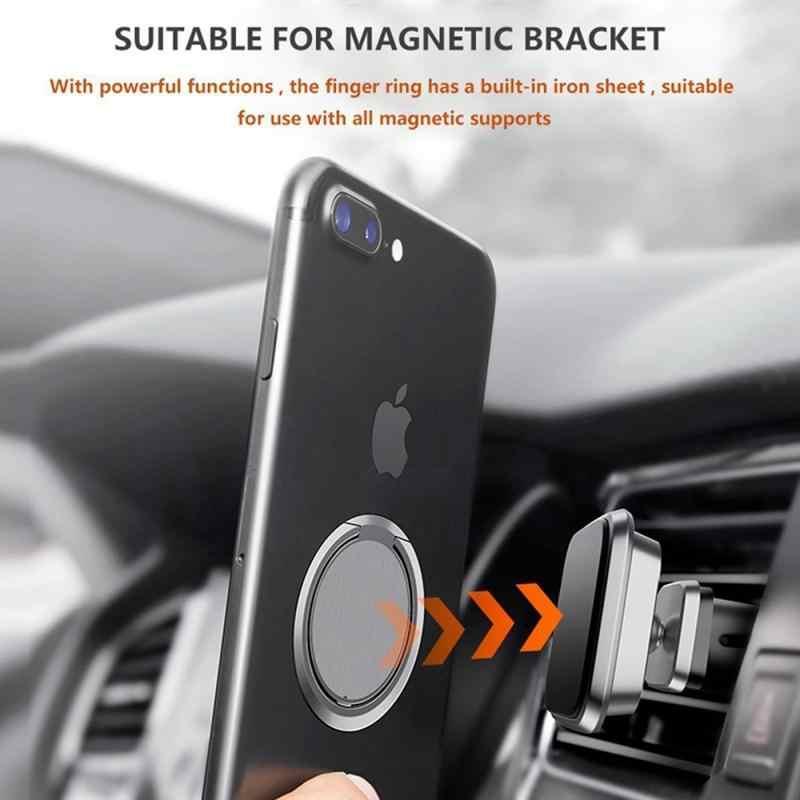 Luxe Metalen Mobiele Telefoon Ring Houder Telefoon Cellulaire Ondersteuning Accessoires Magnetische Auto Bracket Socket Stand Voor Mobiele Telefoons