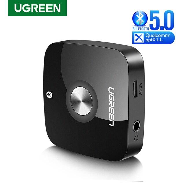 Ugreen sem fio bluetooth 5.0 receptor 3.5mm jack aptx ll aux 3.5 receptor de música alta fidelidade adaptador áudio para o carro receptor bluetooth