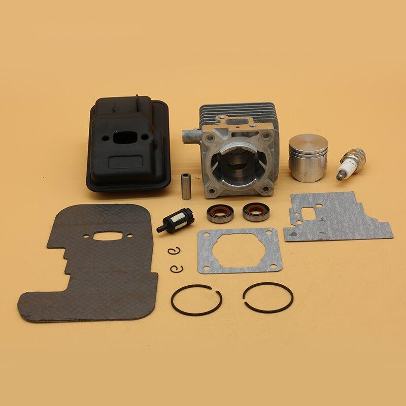 Gasket Exhaust Muffler For 34MM FS85 FS80 Stihl 4137 Seal Trimmer ChainsawParts 0603 Oil 140 FS75 Piston Garden Kit Cylinder